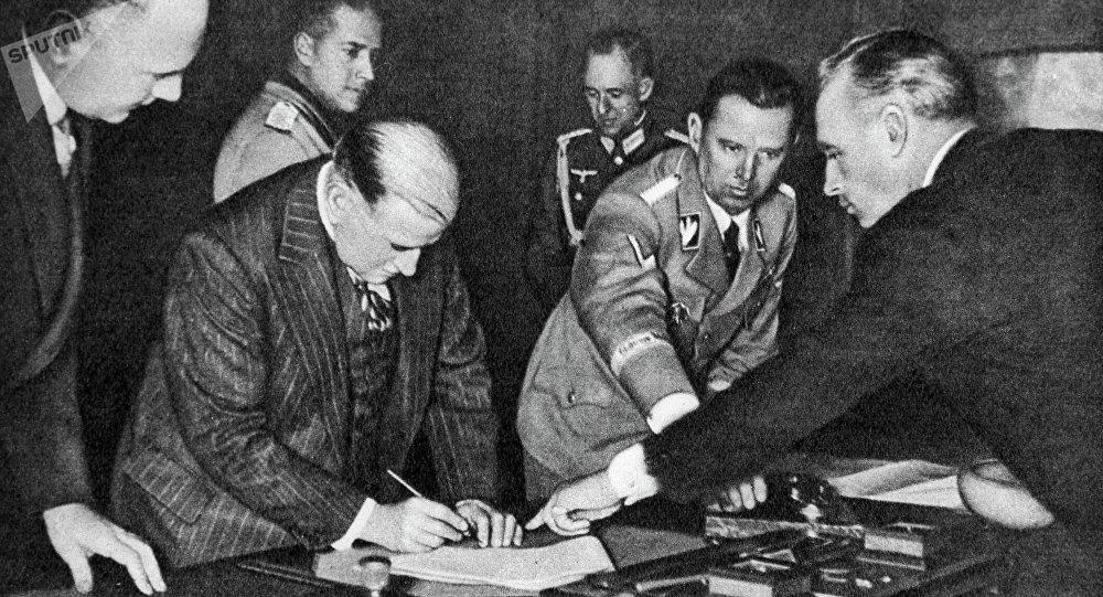 Подписание мюнхенского соглашения 1938г