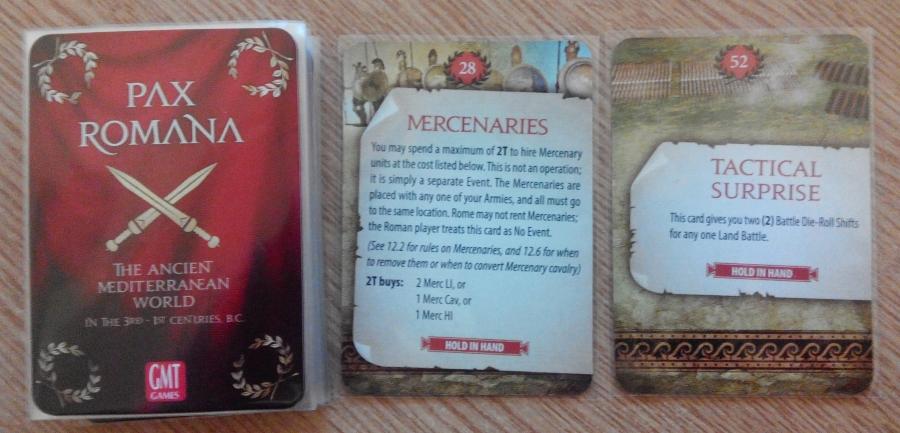 Pax Romana. Event Cards