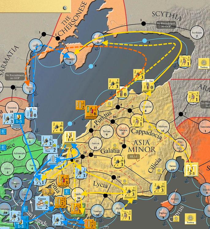 PaxRomana #3 Ход 3. Малая Азия и Греция