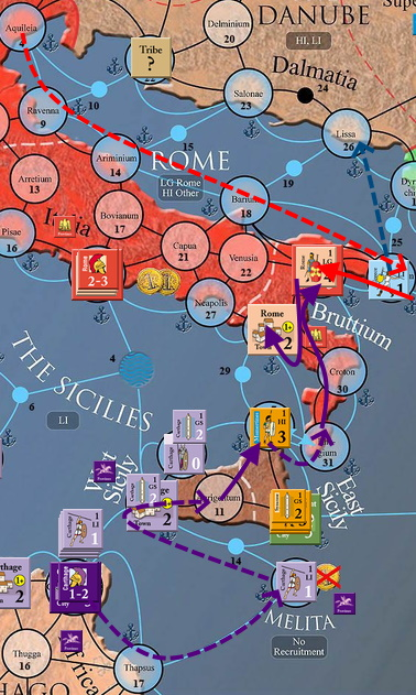 Ход 4. Сицилия и Рим