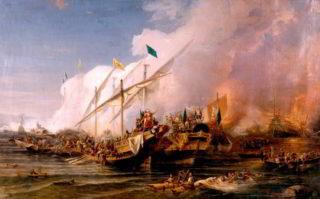Морское сражение 16 века