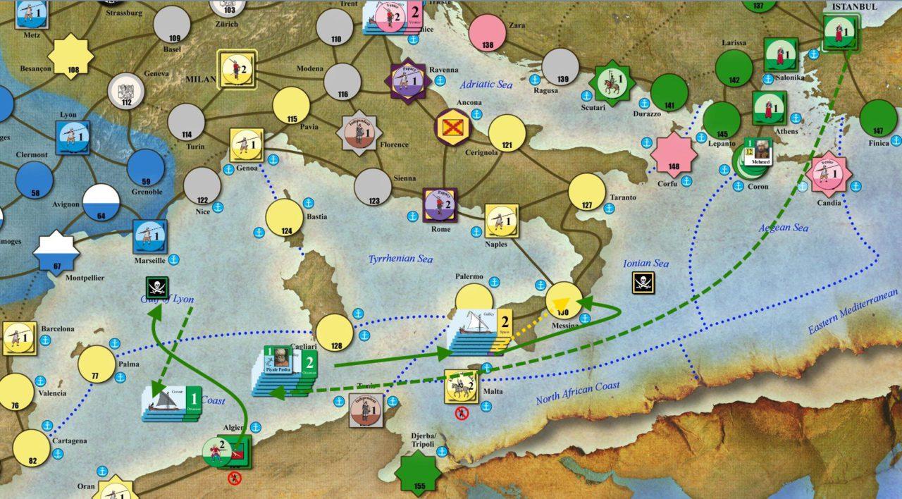 Virgin Queen Морское сражение между Османской Империей и Испанией