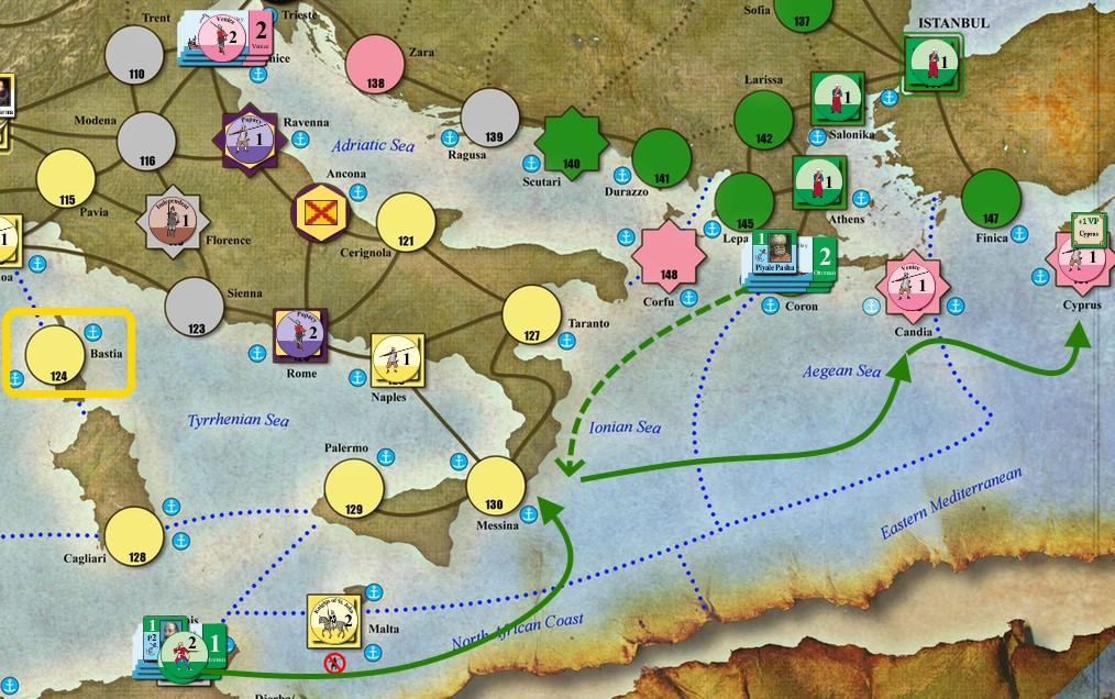 Драгут в Восточном Средиземноморье